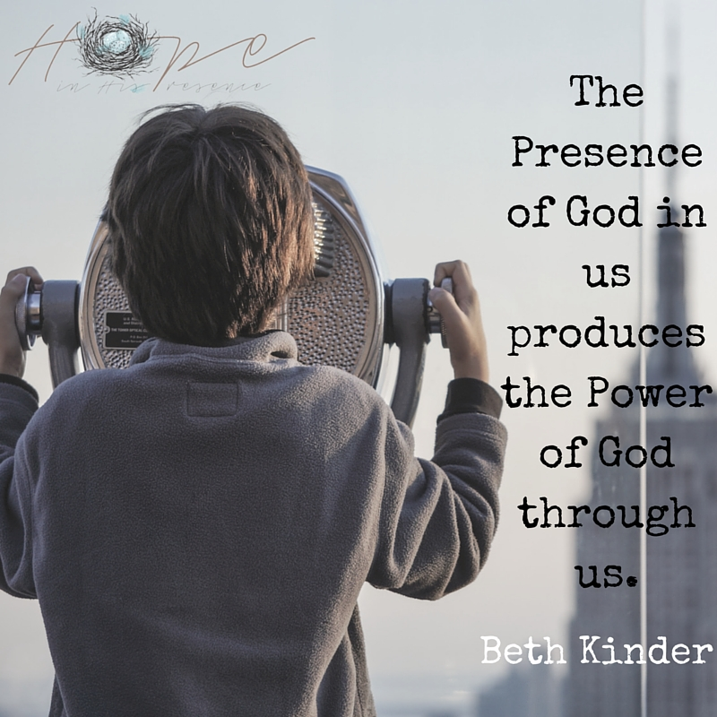 The Presence of God in us produces the Power of God through us.