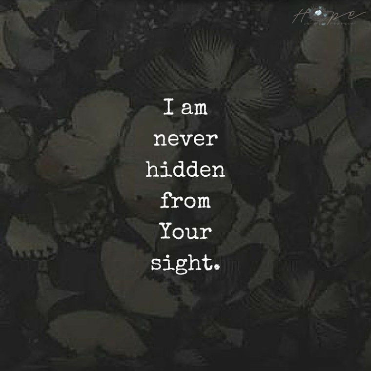 I amneverhiddenfromYoursight
