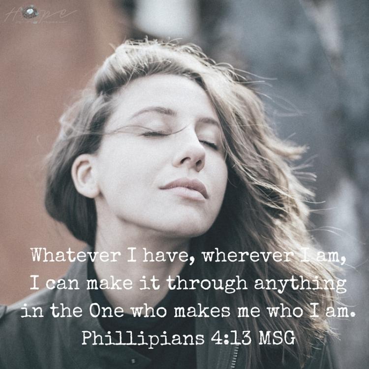 Philippians 4-13 MSG