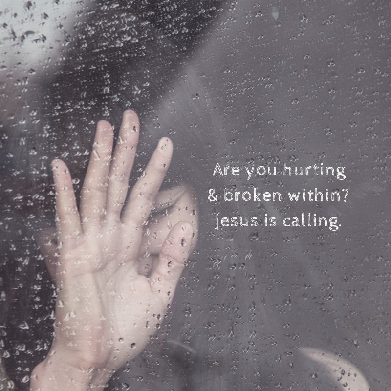 hurting or broken within (1)