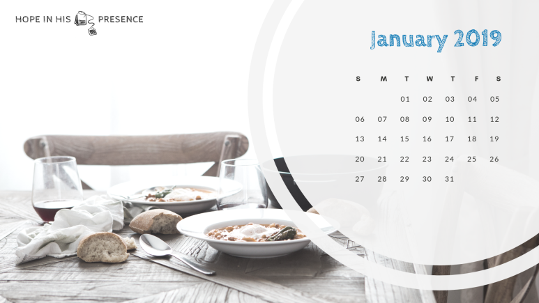 hihp monthly calendar jan 2019
