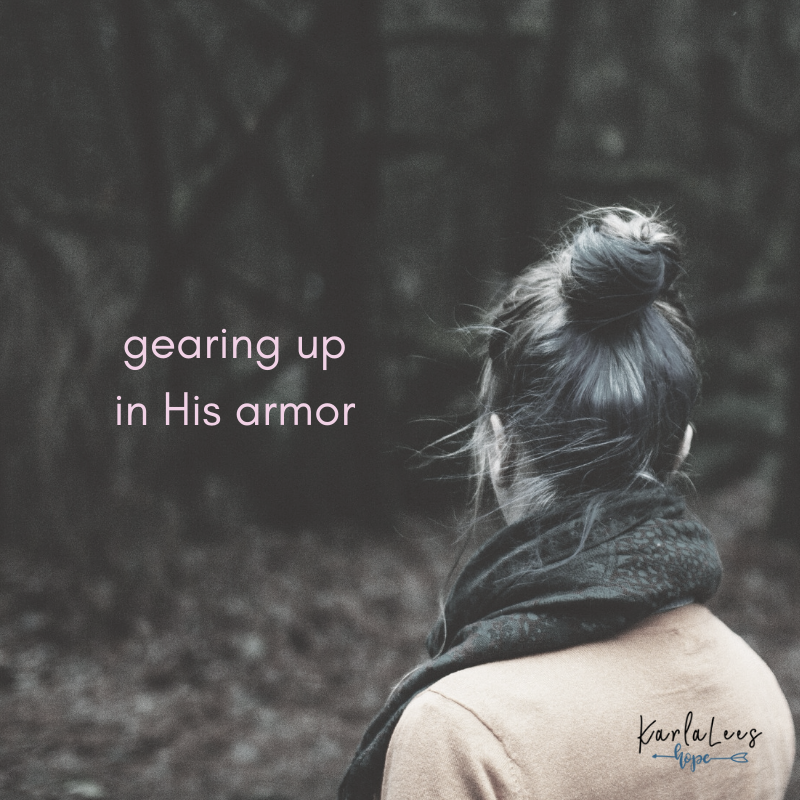 So arise, woman of wonder. Put on and take up your full set of armor, lift up your voice in praise and prayer, and walk in the s